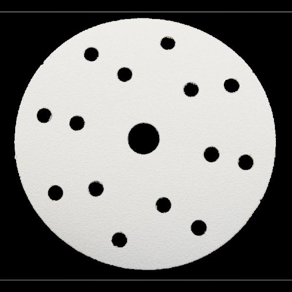 Klett-Schleifscheibe Ø 150mm 15-Loch weiß