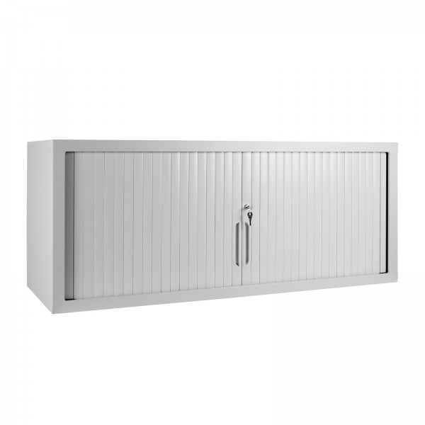 Rollladen-Aufsatzschrank, H 500 x B 1200 x T 450 mm, RAL7035