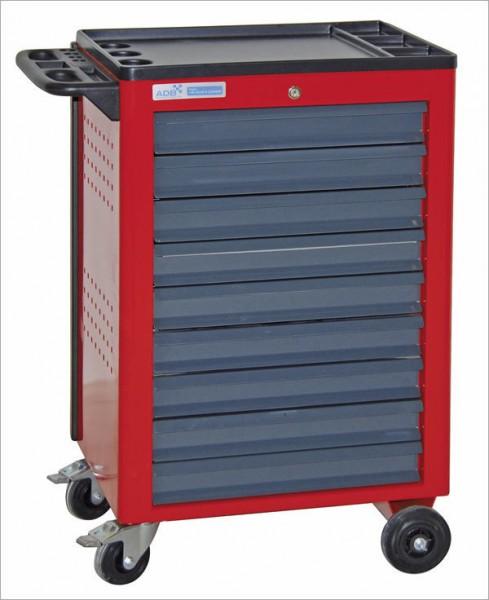 Werkstattwagen Basic mit 9 Schubladen, rot