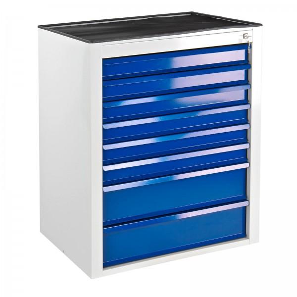 """Schubladenschrank """"MAMMUT Maxi"""" 8 Schubladen hellgrau / blau"""