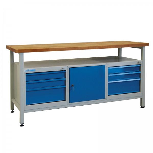 Werkbank / Werkstatt Arbeitstisch 1700x600x840 mm