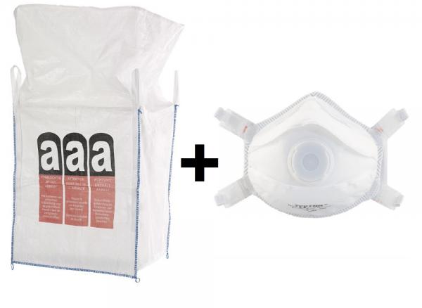 Big-Bags mit FFP3 Feinstaubmasken im Set
