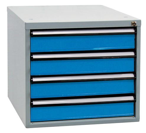 Schubladenboxen, Höhe 500 mm, 4 Schubladen (4x 100 mm)