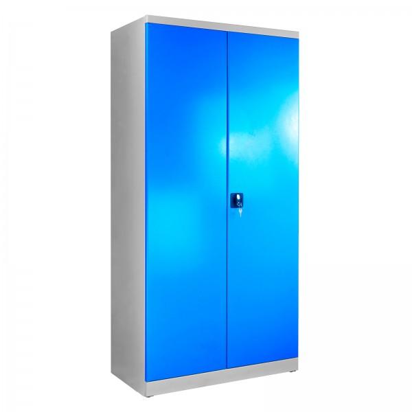Flügeltürschrank, Tiefe 500 mm, Grau/Blau