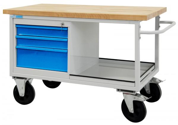 Tischwagen / mobiler Werkzeugtisch 3 Schubladen und 1 Ablageboden