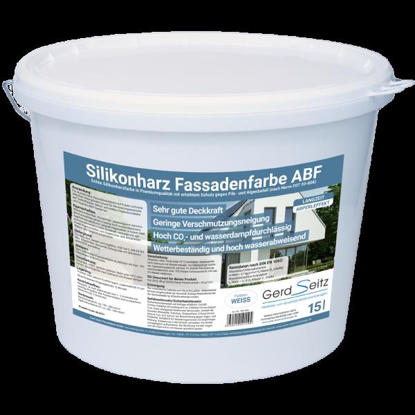 Siliconharz Fassadenfarbe ABF weiss stumpfmatt 15 Liter