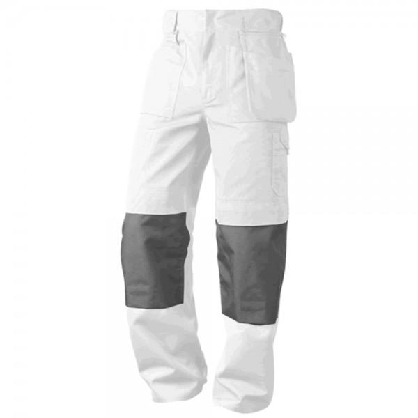 Bundhose Canvas weiß/grau Gr. 46