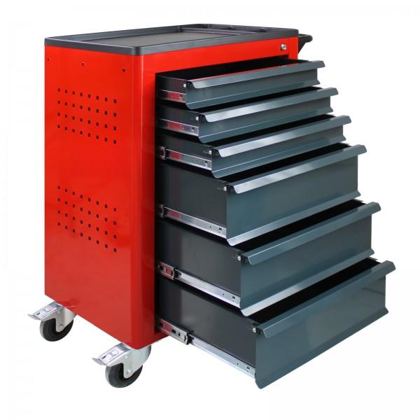 Werkstattwagen Basic mit 6 Schubladen, rot