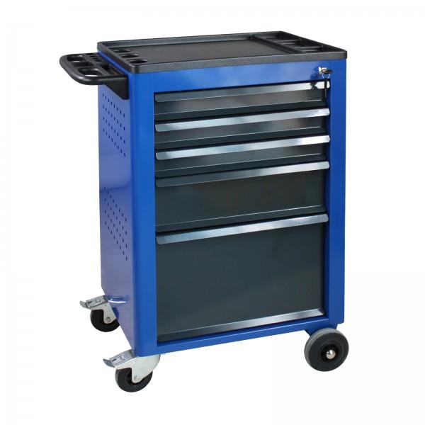 Werkstattwagen Basic, blau, 5 Schubladen