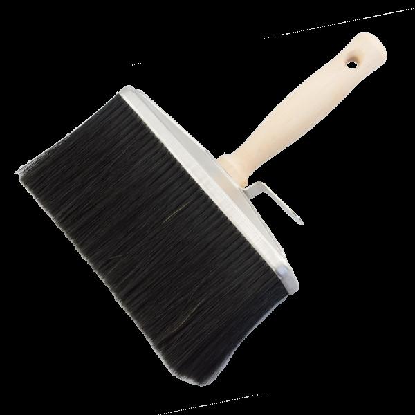 Deckenbürste Rücken 80x180mm schwarze Borsten m.Holzrücken