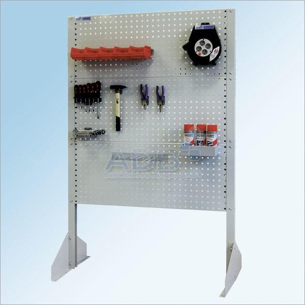 Werkzeugwand mit 3 Lochwänden, Lichtgrau