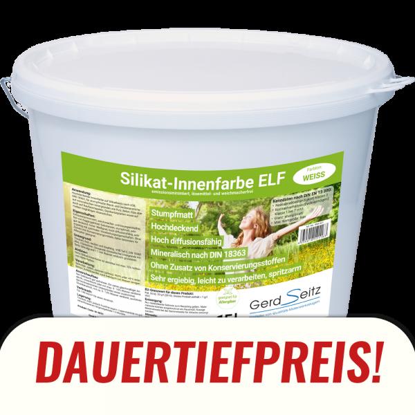 """Silikat-Innenfarbe """"ELF"""" weiss stumpfmatt 15 Liter"""