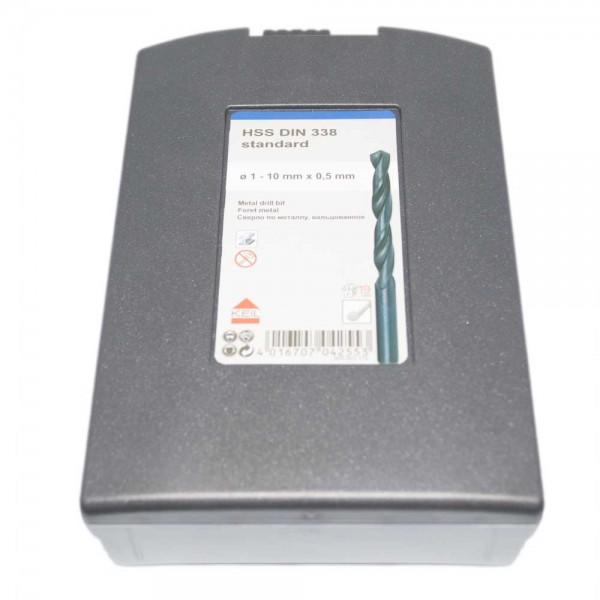 """19-tlg. HSS Spiralbohrer-Set 1 mm – 10 mm """"Standard"""""""