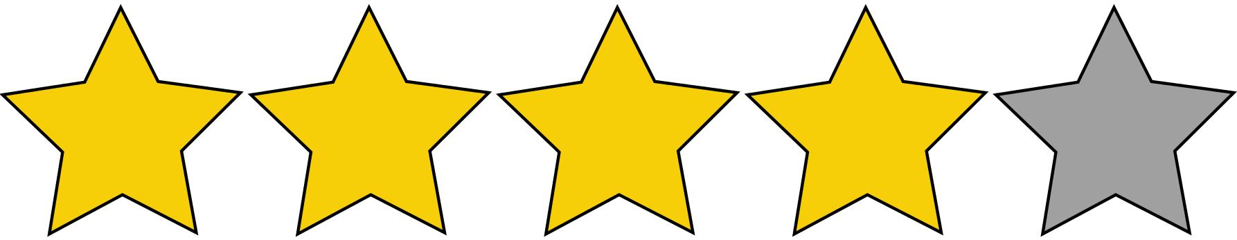 4 Sterne Bewertung