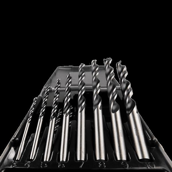10 teiliges HolzspiralBohrer Set Nahaufnahme