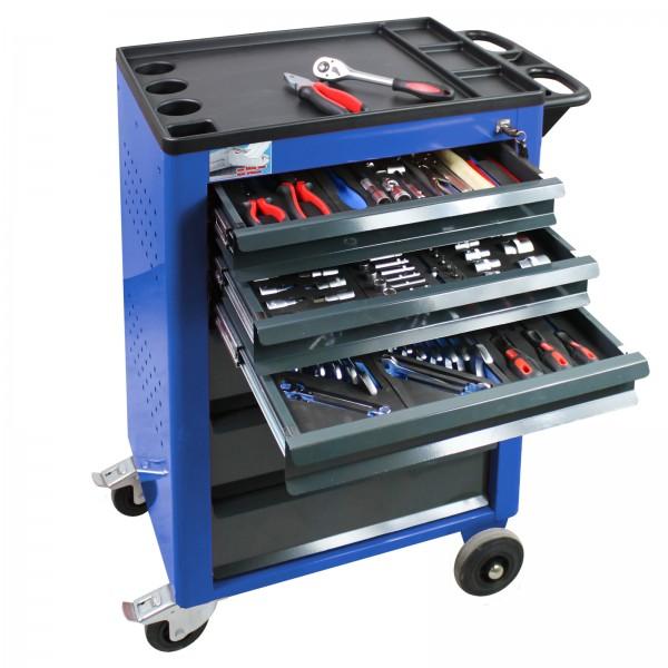 Werkstattwagen Basic (blau) mit 115 teiligem Werkzeugsatz