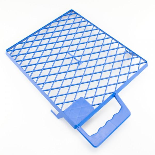 Farbgitter versch. Größen Kunststoff blau mit Griff und Eimerhaken bruchfest