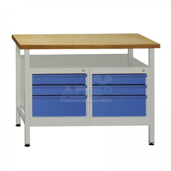 """Werktisch """"Premium"""" mit 6 Schubladen, B 1200 x T 600 x H 840 mm"""