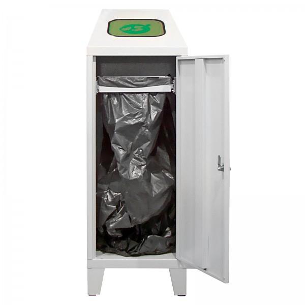 Recycling-Abfallsammler mit Beutelhalterung, 120 L