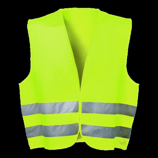 Warnweste (gelb) mit 2 Reflexionsstreifen