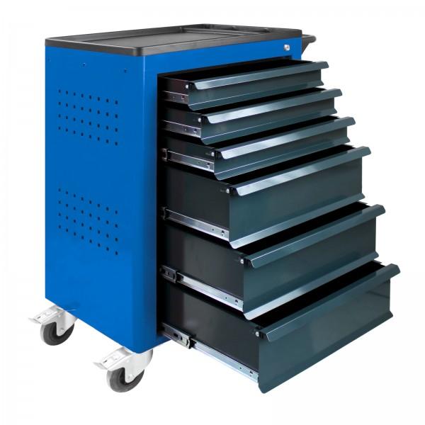 Werkstattwagen Basic, blau, 6 Schubladen