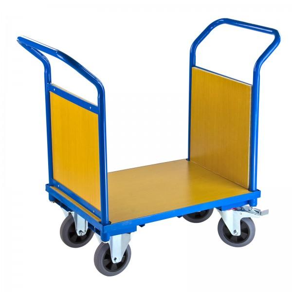 Transportwagen mit 2 Holzbordwänden