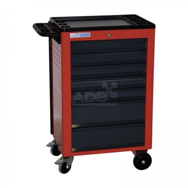 Werkstattwagen Basic mit 7 Schubladen, rot