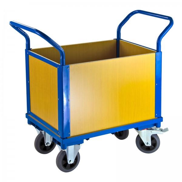 Transportwagen 1 Boden und 4 Holzwänden