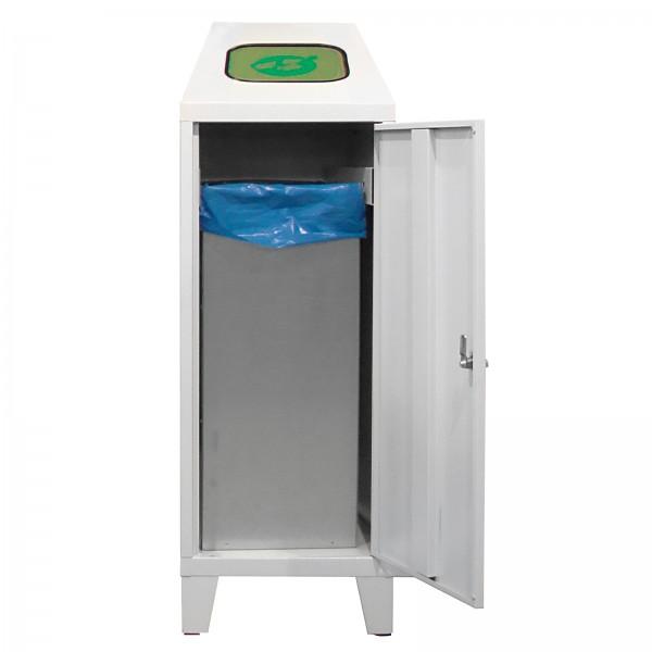 Recycling-Abfallsammler mit verzinktem Behälter