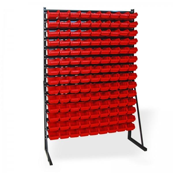Kleinteilemagazin mit 126 Lagersichtkästen
