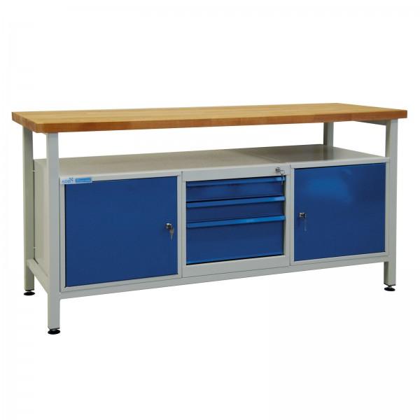 Werktisch / Werkzeugtisch mit 2 Türen und 3 Schubladen