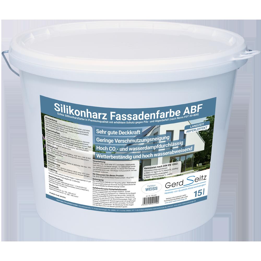 Siliconharz Fassadenfarbe ABF weiß stumpfmatt 15 Liter