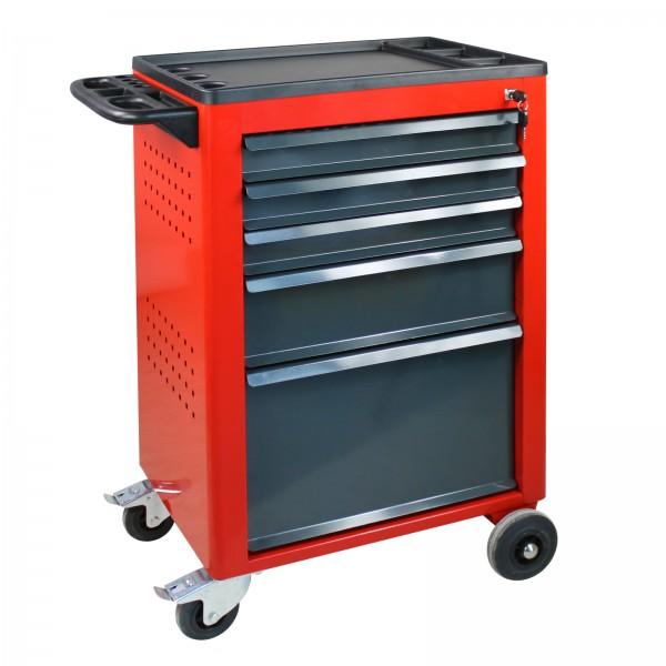 Werkstattwagen Basic mit 5 Schubladen, rot