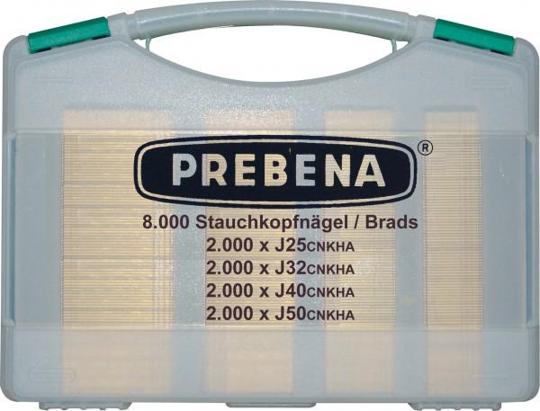 Prebena Stauchkopfnägel J-Box im Koffer