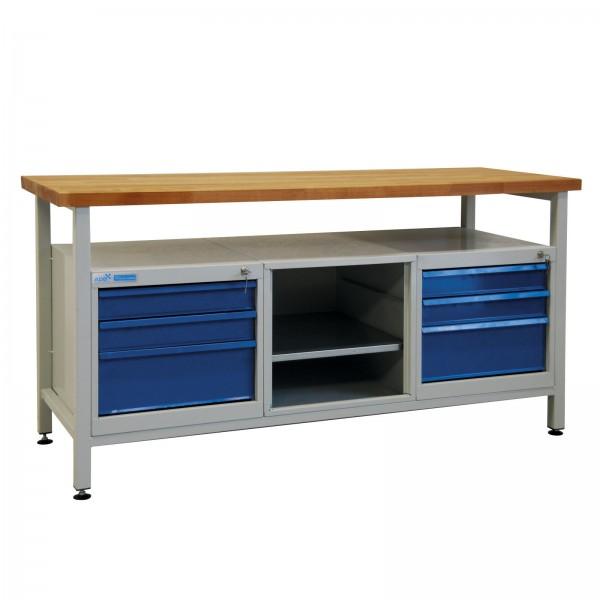 Werkbank / Werkstatt Arbeitstisch mit 6 Schubladen
