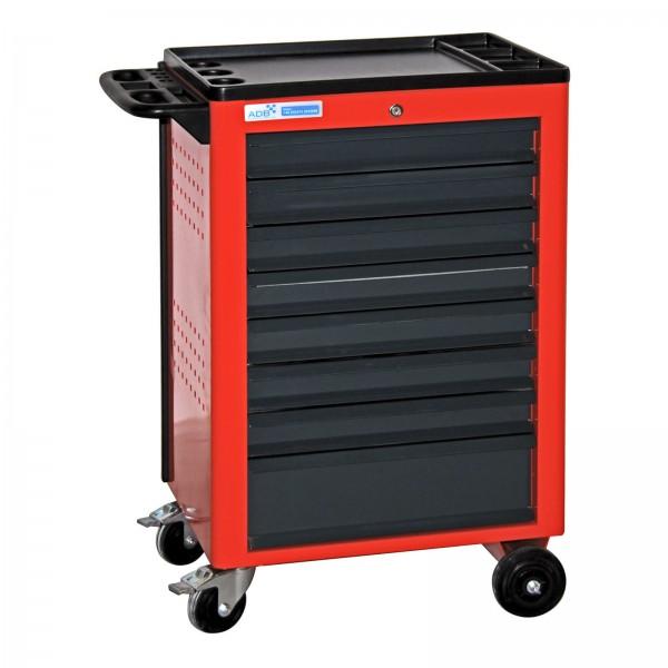 Werkzeugwagen / Werkstattwagen Basic, rot, 8 Schubladen