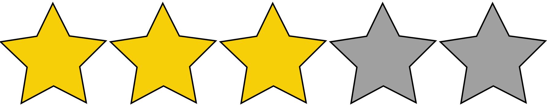 3 Sterne Bewertung