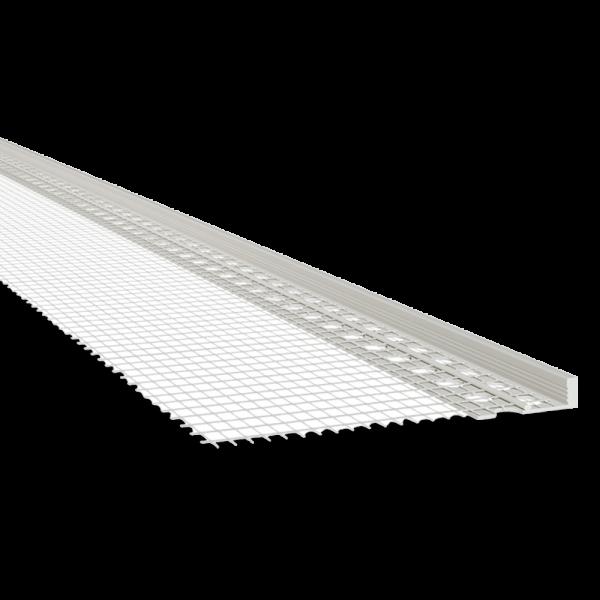 PVC Putzabschlussprofil mit WDVS-Gewebe