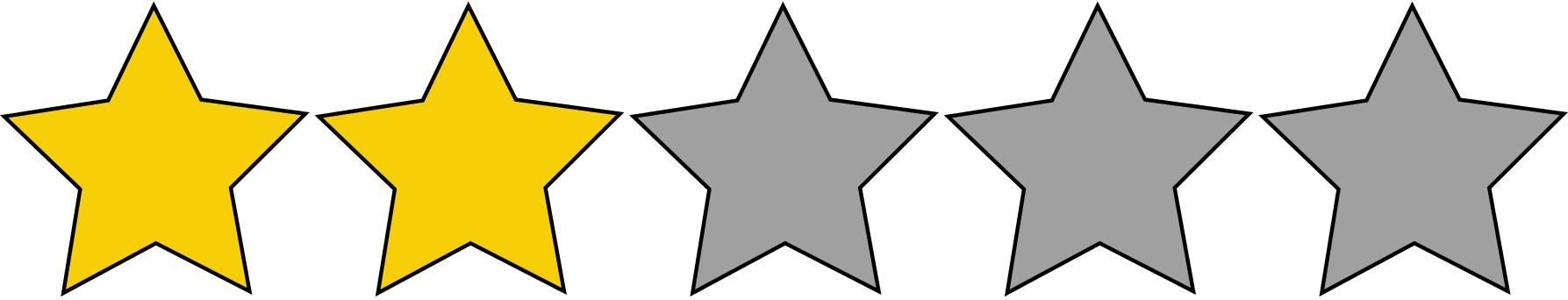 2 Sterne Bewertung