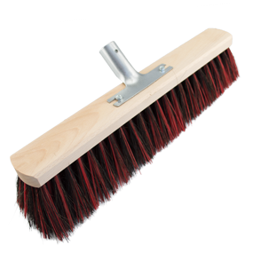 Besen Arenga/Elaston Länge 400-600mm Flachholz m.Metallstielhalter