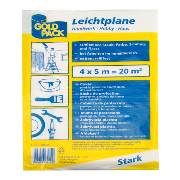 HDPE Leichtplane 7my transparent